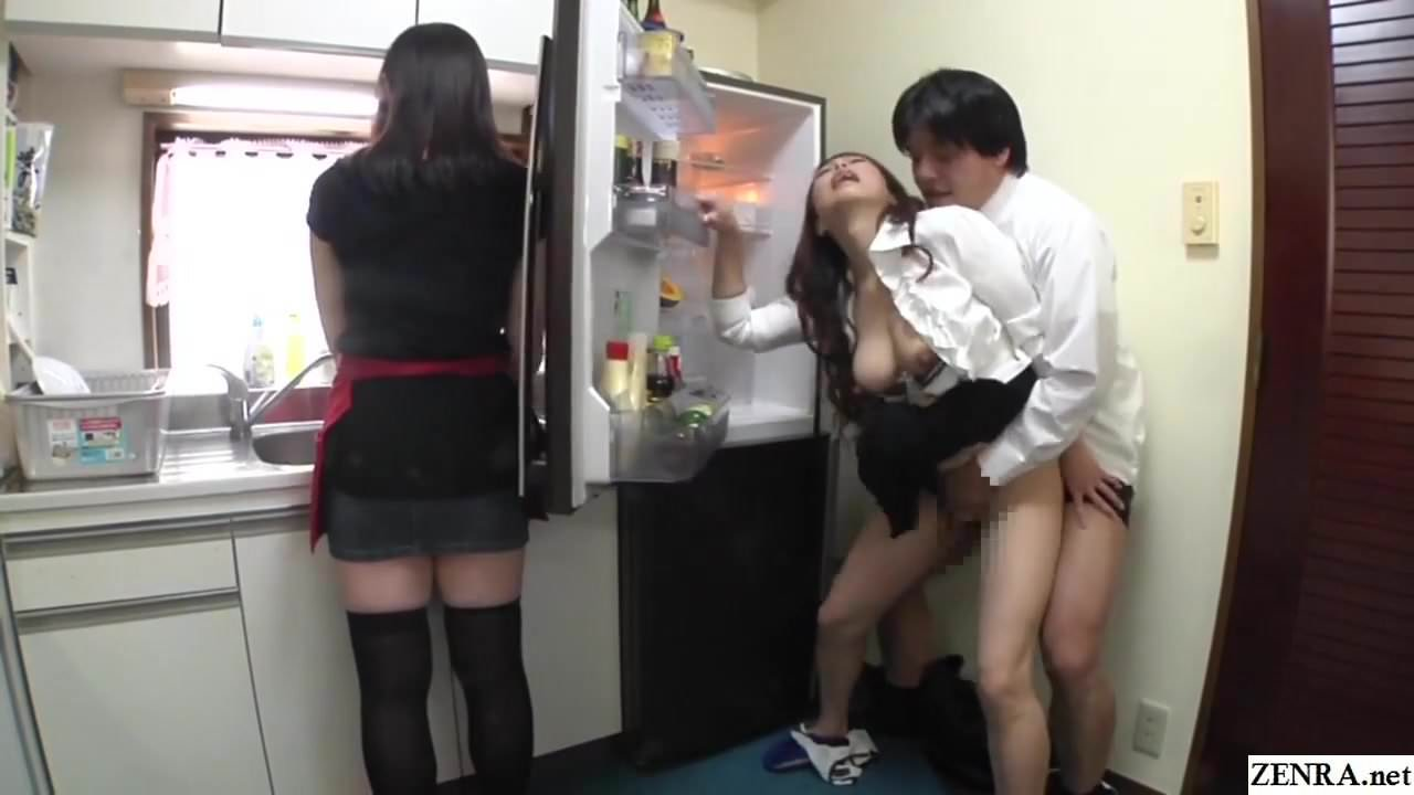 Risky JAV Covert Sex with Mother in Law in Kitchen... jp