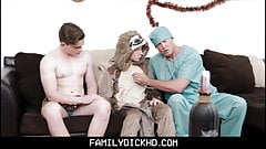 Jock And Twink Step Son Threesome With Step Dad On Halloween