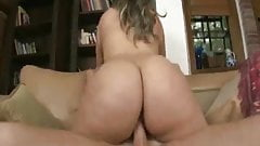 Big Booty Latina Sabella Monize Rides a Huge White Cock