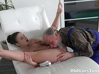 Old Goes Young Old Man Is Very Grateful For Tight Teen