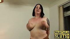 Anally slammed mature slut choked and slapped by master