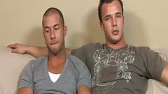 Two Hunk Bucks Fill Asses With Dicks