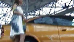Car model upskirts