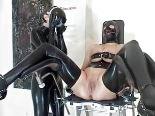 Shaving Lesbians With Latex And Bdsm