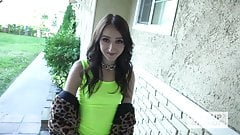Cute tiny teen Carmen Rae gets pounded hard from hookup hots