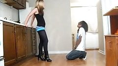 Ballbusting - Teen Alternating Kicks & Knees to the Balls