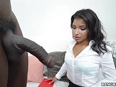 Martini Bows loves big black cock