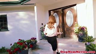 Bigtitted stepmom busted by teen before ffm