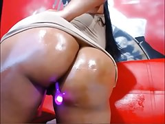Busty Latina Babe With Vibrator In Her Ass