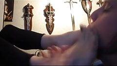 Licking girfriend's feet