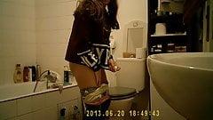 Masturbating in bathroom