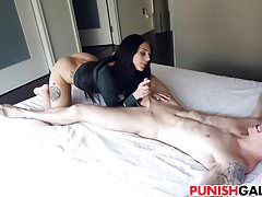 Megan Sage sage punishing her BF