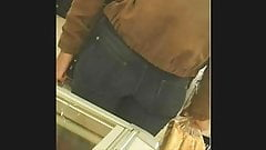 candid ass at shop, perfect round ass jean