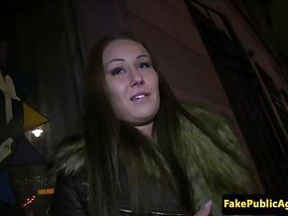 PIckedup euro amateur banged in public toilet