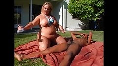 BBW Blonde Interracial