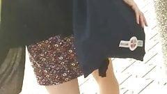 Upskirt woman 26 - Skinny woman white panty