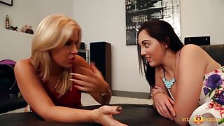 Girl Chat Turns into Girl Play for Savana and Nickey