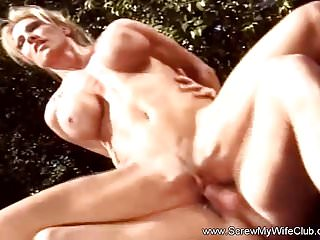 Blonde Swinger Wife Outdoors Fucks Total Stranger