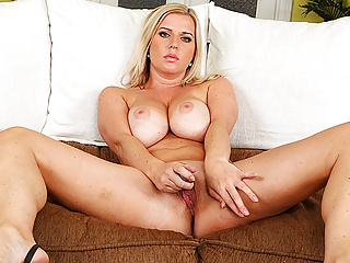 big boob stepmom alone at home