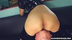 PVC boots bitch getting fucked and is creamed