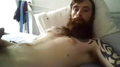cute bearded tatted dude cumming 45
