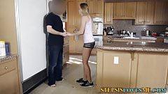 Amateur stepsis spunked