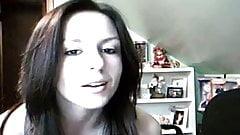 Hot Amateur Brunette Stripping For Her Webcam