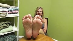 Extremely Sexy Blonde Soles Feet