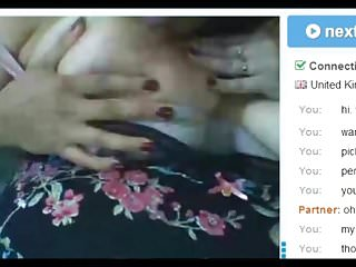 British Hot Mature Playing with Nipples on Chat