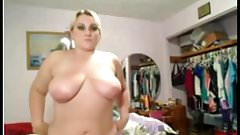 Hot Horny Chubby BBW showing her big tits and ass
