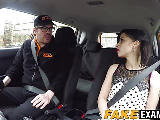 Cute English whore Myla Elyse fucks her sexy driving teacher