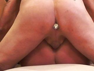 Mature wife karen ass fuck with creampie
