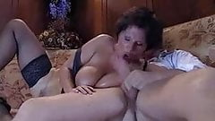 nice mature bbw is fucking and sucking