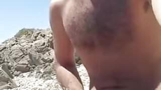 Piss on the beach