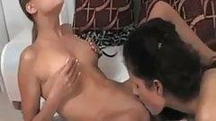 Teen lesbian kiss lick and fist