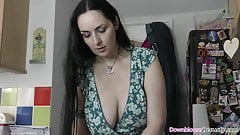 Stunning babes shaking those natural tits for the fans
