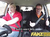 Fake Driving School Back seat pussy squirting and creampie