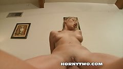 Super sexy young brunette stepdaughter taken hard in wet