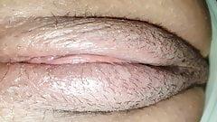 My creamy burger pussy up close