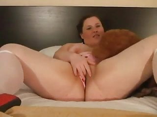 Hot Fat Plumper Teen GF playing with her Wet Shaven Pussy