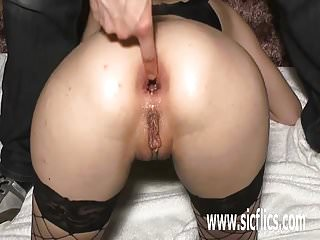 Preview 1 of Brutally fisting and fucking her ass with a huge bottle