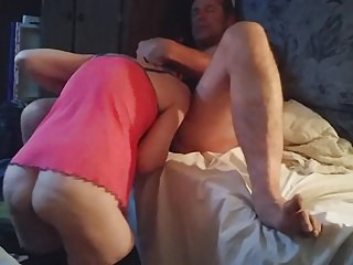 An old friend gets lucky, my gf takes his huge load.