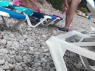 Nude couple on the beach Spain