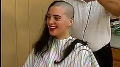 The girl wants to be bald