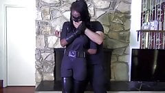 Ebony superheroine  Bound