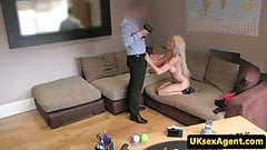 Bigtitted casting brit cocksucking sex agent