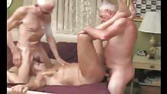 Grandpas in threesome