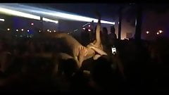 Naked Chick Attacks DJ During Tampa Show