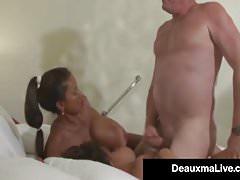 Busty Mommy Deauxma & Lesbian Minka Get Banged By Hard Hubby