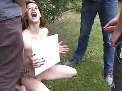 Pee games in the garden